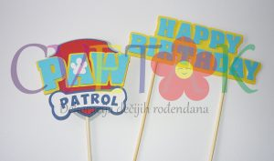 natpis za tortu patrolne sape, toper za tortu patrolne sape, cupcake paw patrol, patrolne sape baner za tortu