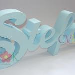 3d ime stefan, ime od stiropora, dekoracija slatkog stola, ime deteta za rodjendan, svetlo plavo ime, baby blue