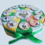 papirna torta dinosaurus, rodjendan na temu dinosaurus, dinosaurus slatki sto, kutije dinosaurus za slatkise, papirna torta dinosaurus za rodjendan