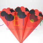 fiseci za kokice kao dekoracija slatkog stola, mini maus crveni fiseci, kokice mini maus za dekoraciju rodjendana, mini maus dekoracija rodjendana