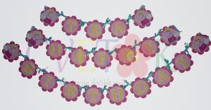 pepa prase dekoracija, natpis pepa prase, baner za rodjendan, srecan rodjendan pepa prase