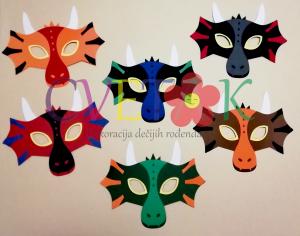 maska zmaj, foto rekviziti zmajevi, maske za slikanje na temu zmaj, dragon photo booth
